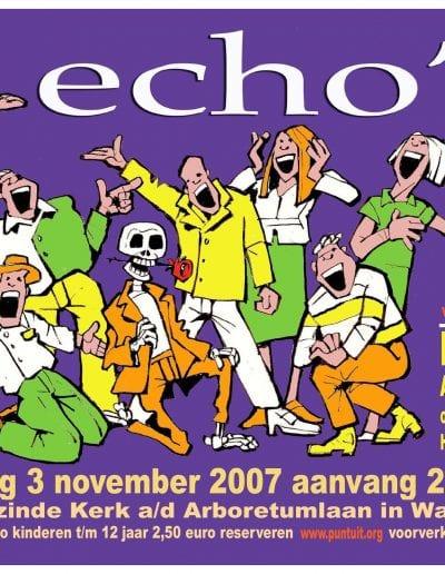 2007 affiche optreden 2007 echos def kaartje 1